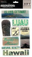 Creative Imaginations - Hawaii Epoxy Scrapbooking Stickers - travel