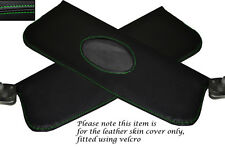 GREEN STITCHING FITS JAGUAR MK2 2X SUN VISORS LEATHER SKIN COVERS ONLY