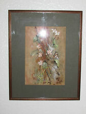 Vintage Original Watercolor Painting, Signed, By Steve Hartley - 1982