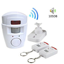 105dB Motion Sensor Detector Alarm Wireless IR Infrared Remote Security System