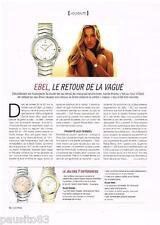 PUBLICITE ADVERTISING 0105  2014   EBEL montre SPORT CLASSIC & GISELE BUNSCHEN