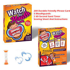 Watch Ya' Mouth Family Edition Hilarious Funny Board Game Mouthguard Mouthpiece