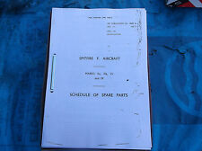 ww2 raf spitfire parts manual for mk 5-9 photo copy illustrated
