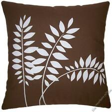 """Chocolate Brown Wheat Stalk Decorative Throw Pillow Cover/Cushion Cover 20x20"""""""