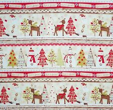 Holiday Stitches Bordüre Patchworkstoffe Stoffe Weihnachten Meterware Patchwork
