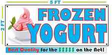 FROZEN YOGURT All Weather Banner Sign Full Color Cone Bowl NEW Shop