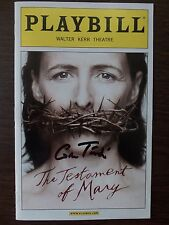 THE TESTAMENT OF MARY by Colm Toibin (2013) SIGNED U.S. PLAYBILL + Author's Note