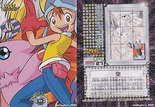 DIGIMON ADVENTURE 9 PUZZLE CARD SET - SORA YOKOMON BIYOMON BIRDRAMON GARUDAMON
