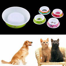 Plastic Pet Dog Cat Puppy Go Slow Eating Feed Bowl Food Water Feeder Dish CR