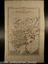 1780 Copper MAP Empire of CHINA Asia Japan Orient Chinese Tartary 42cm X 25cm