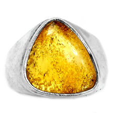 Baltic Amber 925 Sterling Silver Ring Jewelry s.7 BAMR21