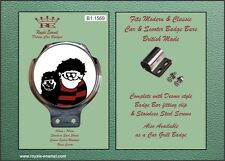 Royale Car Scooter Bar Badge - DENNIS THE MENACE GNASHER WELLER JAM - B1.1569