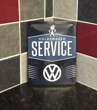 Volkswagen Service Garage Metal Sign Medium Vintage Retro Tin Sign.