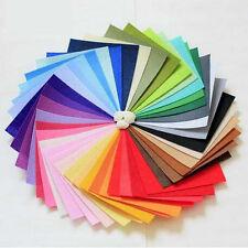 40 Colors Pcs Rainbow Felt Sheets DIY Craft Polyester Wool Blend Fabric 15x15cm