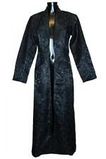 Ladies Black Gothic Victorian Steampunk Phaze Brocade Shadow Coat Jacket Size 14