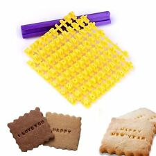 Alphabet Number Letter Cookie Biscuit Stamp Cutter Embosser Cake Mould Tools (50