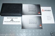 2003 Mitsubishi Eclipse & Eclipse Spyder Owners Manual