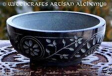 WITCHES GARDEN Stone Incense Bowl Burner Censer - Witchcraft Wicca Pagan