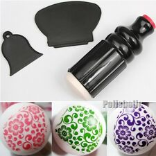 3Pcs/Set Double Sided Stamping Nail Art Stamper & Scraper Stamping Image Tools