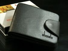 Men's PU Leather Wallet Pocket Card Clutch Bifold Purse Black wallet UK