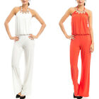 women's jumpsuit romper palazzo pants jumpsuits backless wide leg outfits S M L
