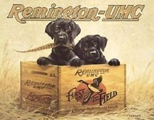 Remington-UMC Ammunition Black Labs TIN SIGN Metal Firearms Gunshop Poster