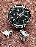 Drag Specialties 1 3/4 Deluxe Oil Pressure Gauge Kit Harley 1970-84 Shovelhead