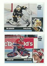 1993 Score Hockey French Canadian 24 Card Dream Team Insert Set Gretzky / Roy