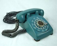 Western Electric 500 Telephone Rotary Phone C/D Dated 3-56 Mediterranean Blue