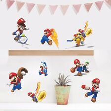 Super Mario Sports Wall Art Stickers Wall Decal Kids Boys Vinyl Decals Decor DIY