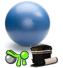 Exercise Gym Ball Swiss Pilates Yoga Core Training Stability Pump Carry Bag 65cm