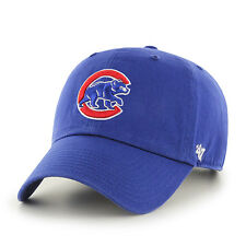 Chicago Cubs 47 Alternate Clean Up Adjustable On Field Blue Hat Cap Champion MLB
