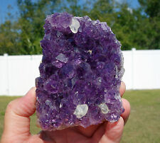 Amethyst FLOWER Uruguay DEEP Purple Quartz Crystal Points Dogtooth Calcite