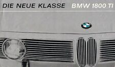 BMW 1800 Ti Saloon 1964-65 German Market Foldout Sales Brochure