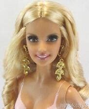 Nude Barbie Model Muse Heidi Klum Blonde Ambition Rooted Lashes Earrings Ring