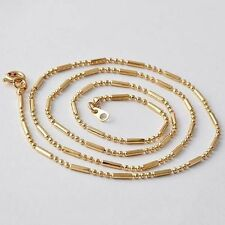 20 inch Womens beaded necklace Chain fit Stone pendant 24K Yellow Gold Filled