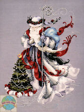 Cross Stitch Chart / Pattern ~  Mirabilia Winter White Santa #MD100