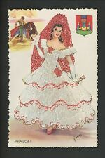 Embroidered clothing postcard Artist Gumier, Spain, Andalucia woman matador #8