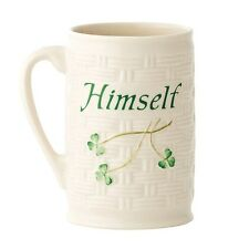 Belleek China Classic, Irish Shamrock Himself Mug Made in Fermanagh, Ireland