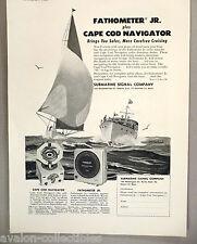 Fathometer Jr Echo Sounder & Cape Cod Navigator PRINT AD -1948 ~Submarine Signal