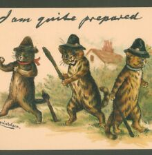 "MINT..!  LOUIS WAIN POLICE CATS ""QUITE PREPARED"" TUCK ""WRITE AWAY"" POSTCARD"