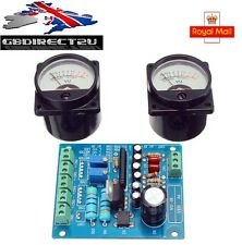 2Pcs VU Meter Warm Back Light Recording + Audio Level Amp With Driver Board UK
