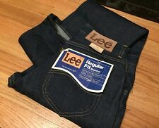 Vintage Lee Rider Talon 42 Zip Boot Cut Dark Indigo Rigid Denim Jeans. Unworn.