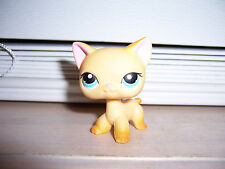 RARE Littlest Pet Shop Cat  #339 LPS Hasbro 2006 RaceAbout Ranch Yellow Orange K