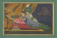 c1932 POSTCARD  OF YOUNG EASTERN LOVERS - ALPHA PUB. CO. PASTELLA SERIES, 2180
