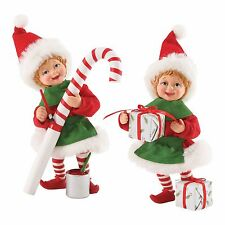 4053594 Possible Dreams Clothtique Santa Accessory Elves, gifts, candy, 2pc NIB