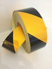 Hi-Vis Black/Yellow Striped Adhesive Retro-reflective Safety Tape 50mmx5m Roll