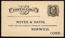 Scott UX5 Noyes & Davis Ticket Sellers Peoples Course of Entertainments, Norwich