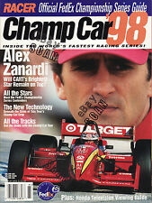 Official FedEx Indy Car Series Guide for 1998 with Alex Zanardi