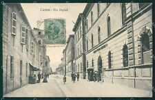 Cuneo città Caserma Alpini Militari cartolina XB3382